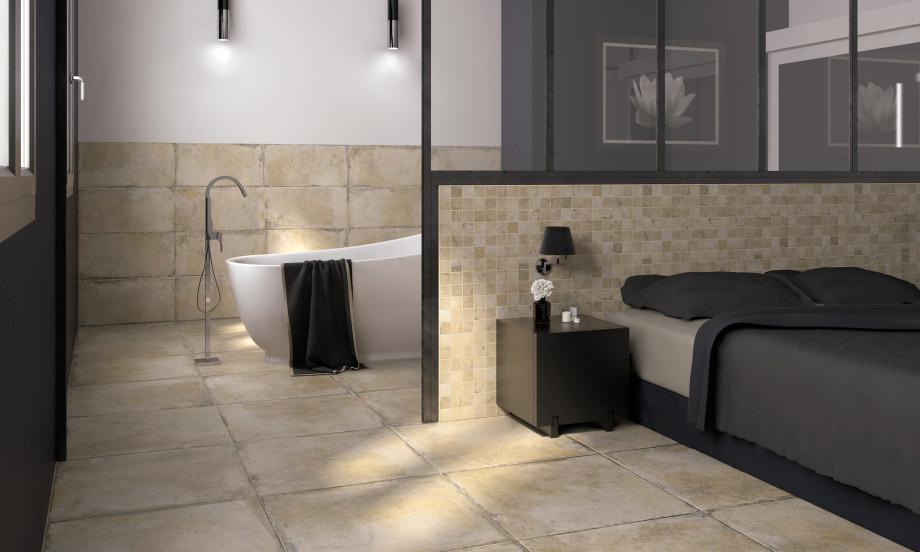 Farmhouse Delfi Porcelain Stone Effect Tile Roomset