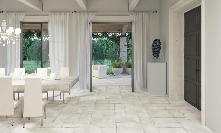 Farmhouse Olimpia Porcelain Stone Effect Tile Roomset