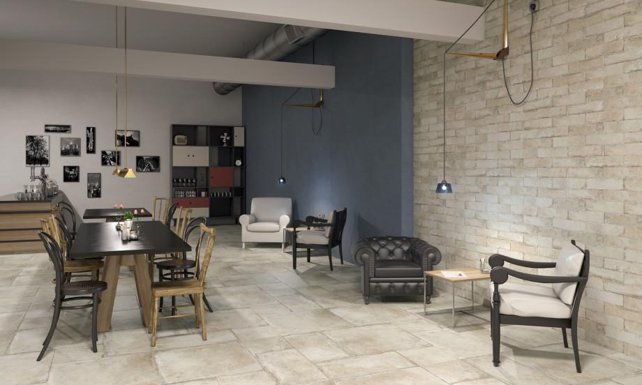 Farmhouse Pergamo Porcelain Stone Effect Tile Roomset