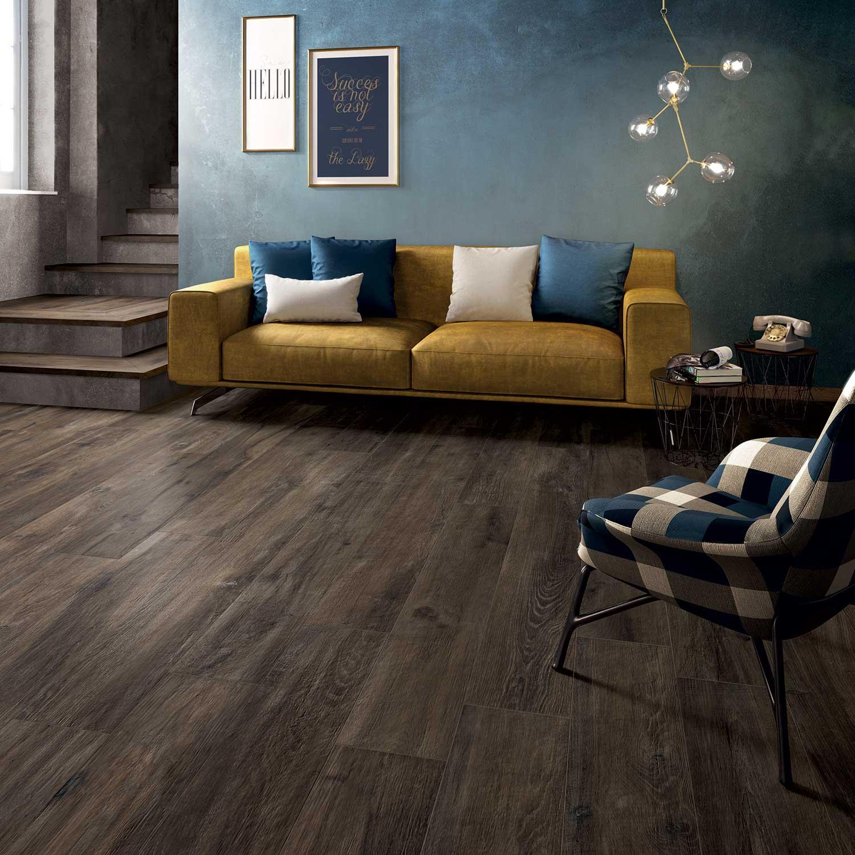 Legend Brown Wood Effect Porcelain Tile Roomset