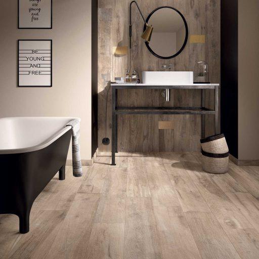 Legend Sand Wood Effect Porcelain Tile Roomset