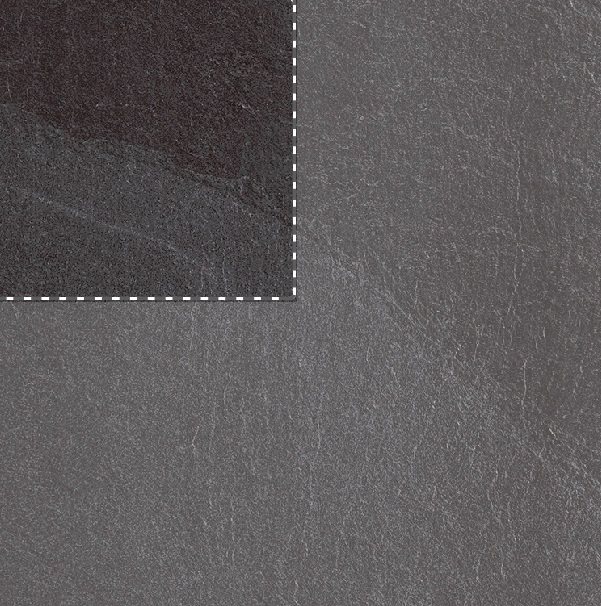 Slide Black Stone Effect Rectified Porcelain Tile Sample Swatch