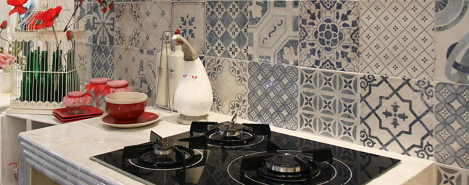 Artisan Antiqua Azul Decor Gloss Ceramic Wall Tile