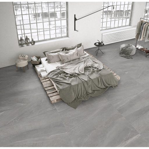 Magma Fumo Stone Effect Porcelain Tile Roomset