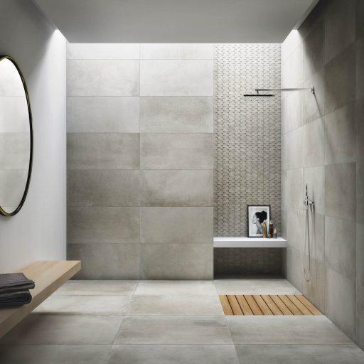 Essential Sand Porcelain Stone Effect Tile Roomset