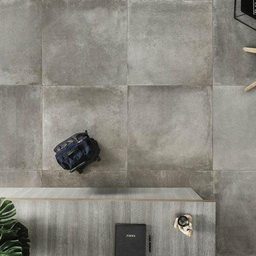 Essential Mud Porcelain Stone Effect Tile Roomset