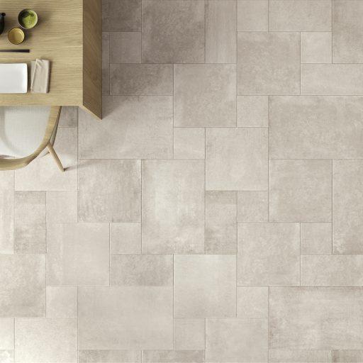 Opus Stone Avorio Multisize Stone Effect Porcelain Tile Roomset