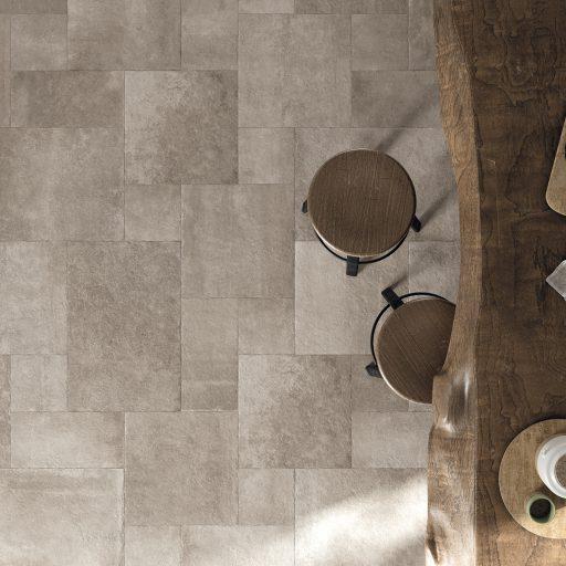 Opus Stone Tortora Multisize Stone Effect Porcelain Tile Roomset
