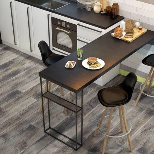 Ember Scorch Wood Effect Porcelain Tile Roomset