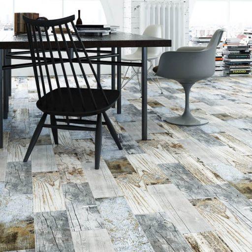 Ember Vintage Wood Effect Porcelain Tile Roomset