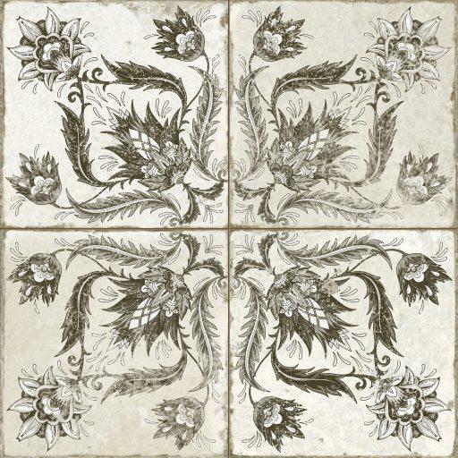 Alpha Black Tile Individual Vintage Tile