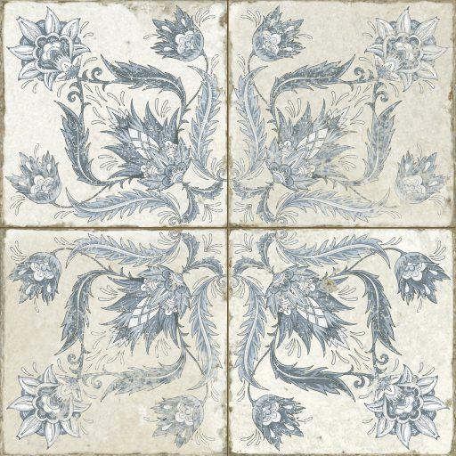 Alpha Blue Tile Individual Vintage Tile