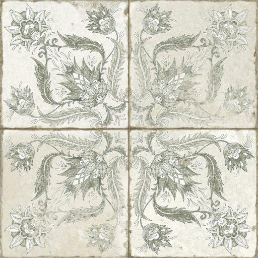 Alpha Sage Tile Individual Vintage Tile