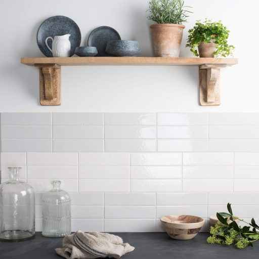 Panorama Ceramic Crackle Glazed Wall Tile Roomset