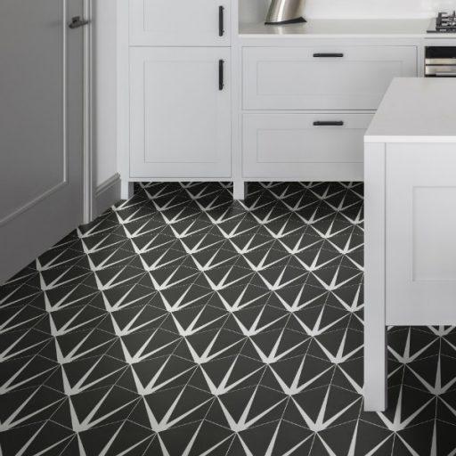 Lily Pad Porcelain Hexagon Decor Tile