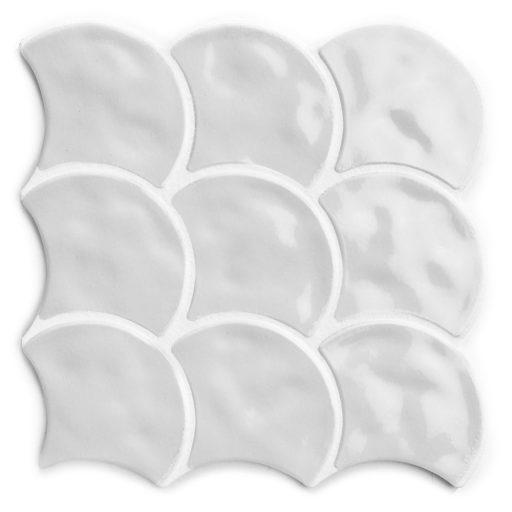 Pettine Gris Scallop Decor Tile