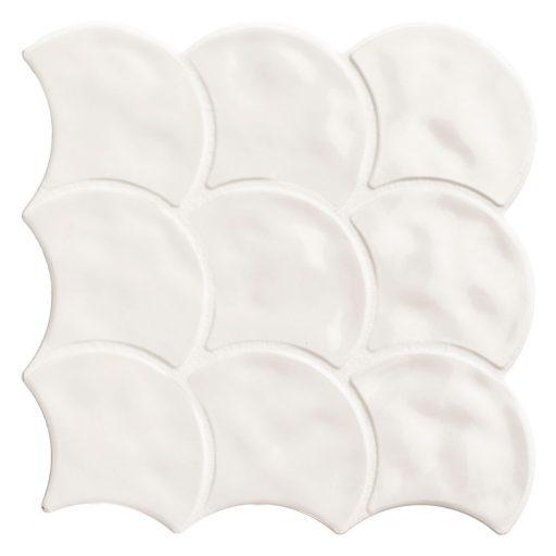 Pettine Bianco Scallop Decor Tile