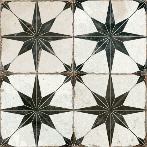 Theta Black Tile Individual Vintage Tile