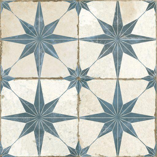 Theta Blue Tile Individual Vintage Tile