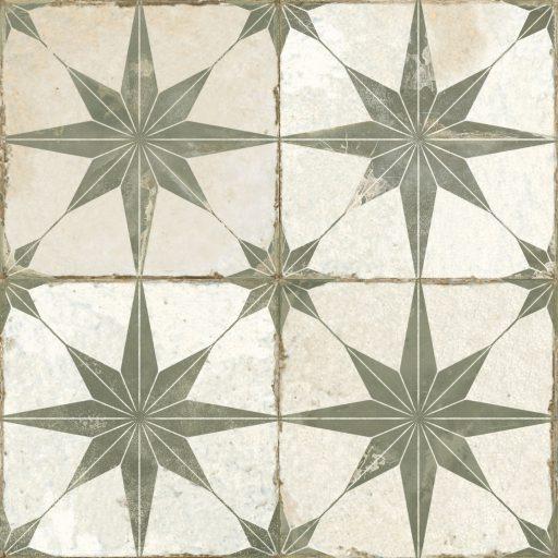 Theta Sage Tile Individual Vintage Tile