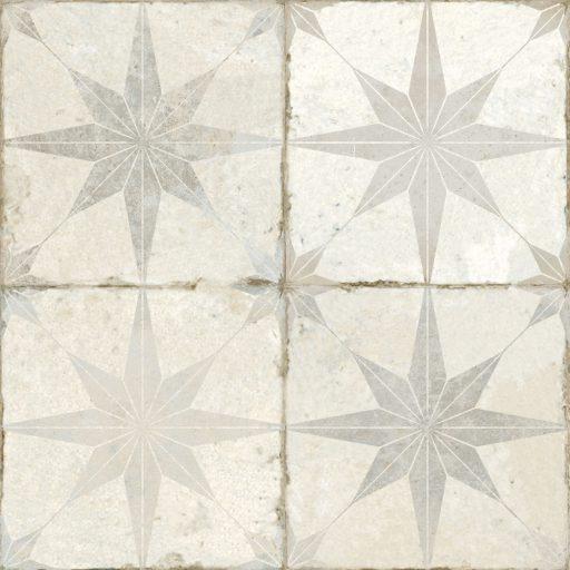 Theta White Tile Individual Vintage Tile