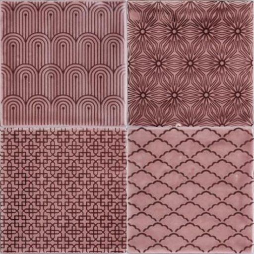Manoir Tayberry Ceramic Decorative Pattern Red Tiles Winchester Residence